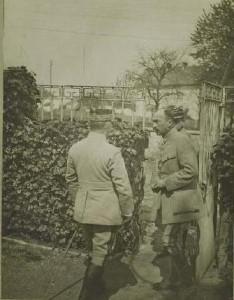 Les généraux Franchet d'Esperey commandant le groupe des armées de l'Est et Demange commandant le 34è C.A.