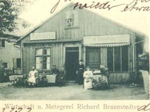 Ancienne boucherie et bistrot Braunstedter avant 1871