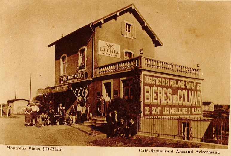 Le café-restaurant Ackermann a Montreux-Vieux