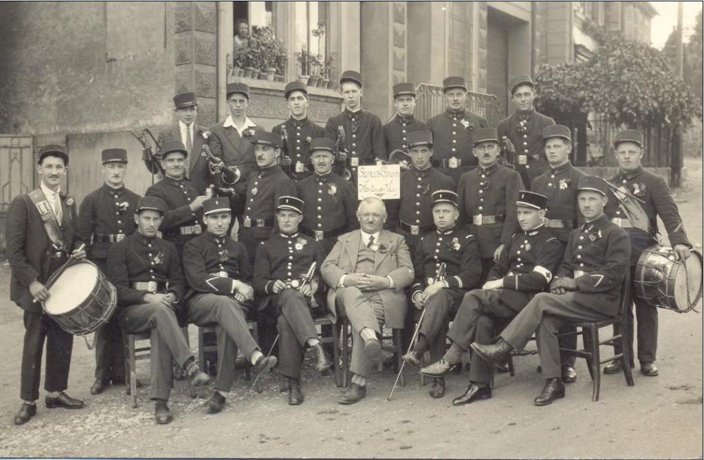 Le Corps des Sapeurs-Pompiers de Montreux-Vieux à sa fondation en 1930