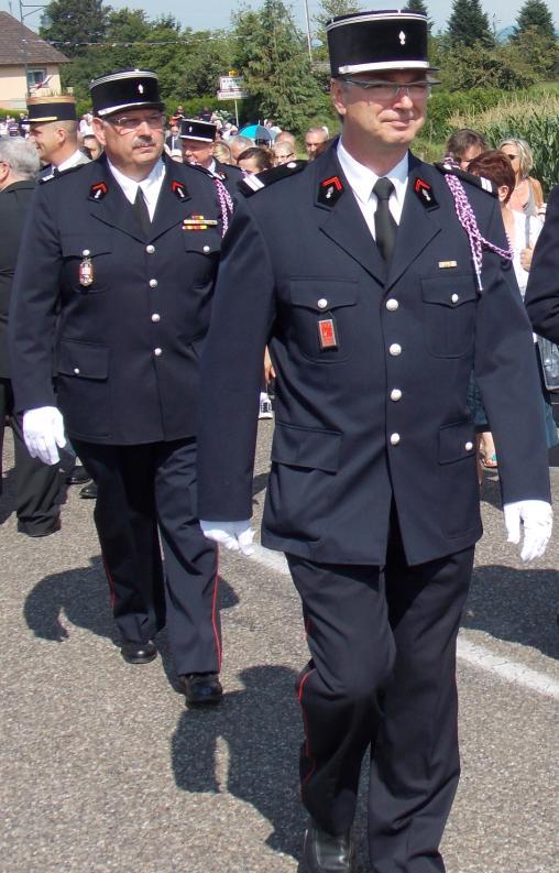 Le Capitaine François Notter et le Lieutenant Emmanuel Schirch