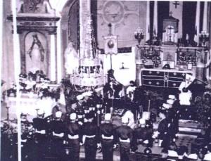 Les obsèques du Capitaine Joseph Schlicklin à Montreux-Jeune.