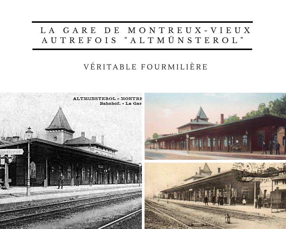 La gare de Montreux-Vieux Altmünsterol