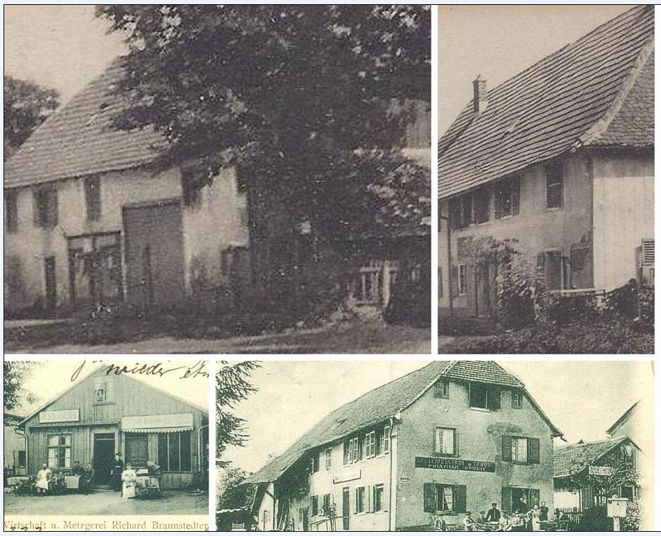 vieux bâtiments de Montreux-Vieux