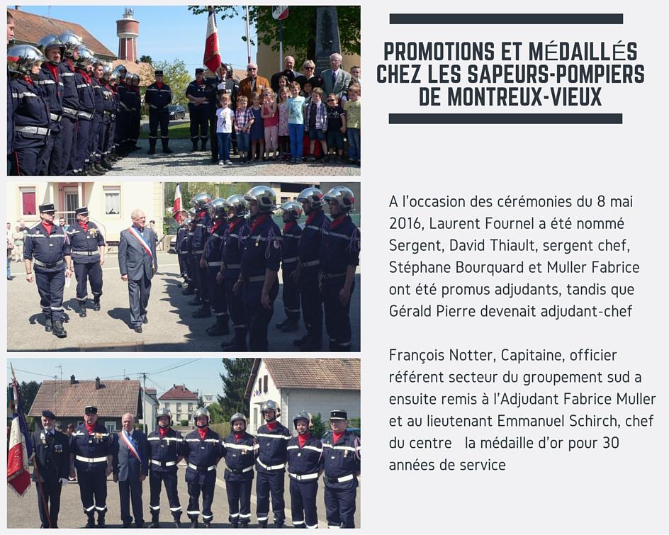 Promotions et médaillés chez les Sapeurs-Pompiers de Montreux-Vieux