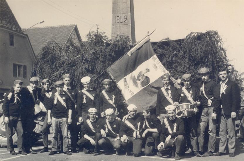 Les conscrits de Montreux-Vieux classe 1946