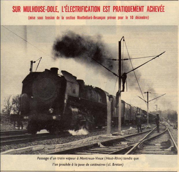 Electrification de la ligne MUlhouse Dole