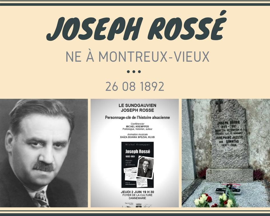Joseph Rossé député né à Montreux-Vieux
