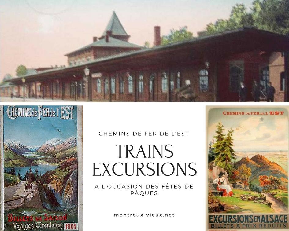 Trains excursions fête de Pâques
