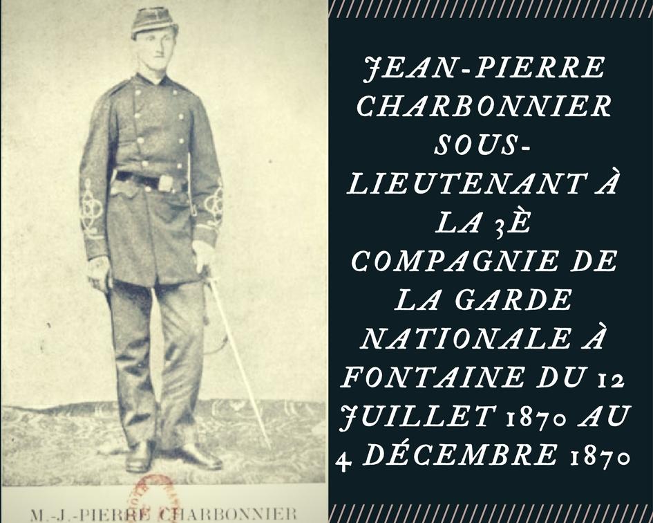 Le saviez-vous ? Marie Jean-Pierre Charbonnier de Montreux-Vieux.