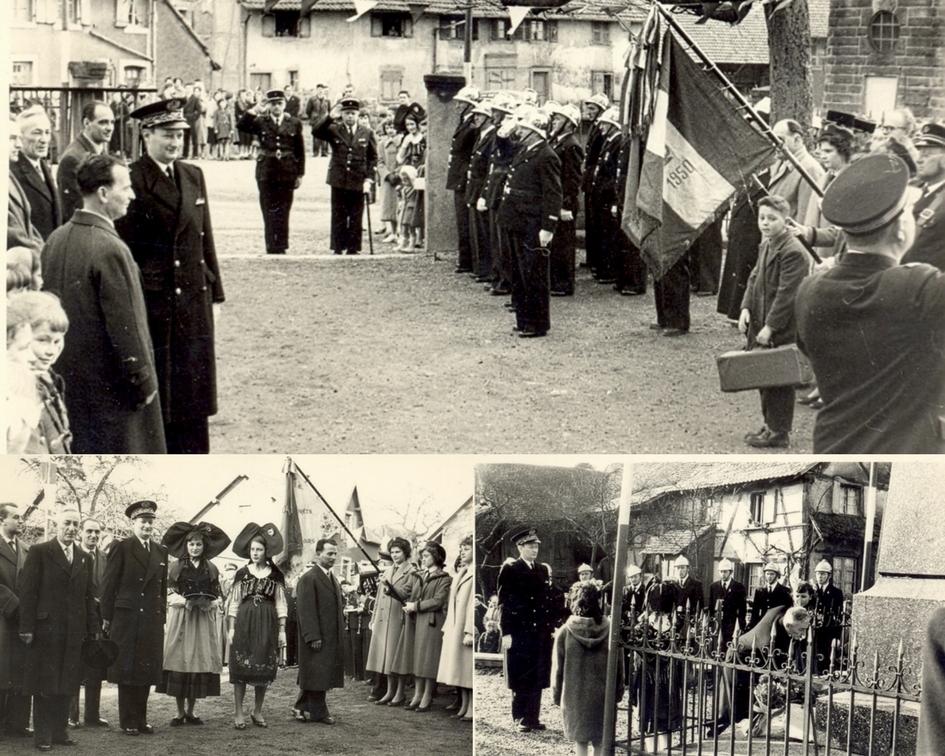 Inauguration de la salle des fêtes construite en 1958