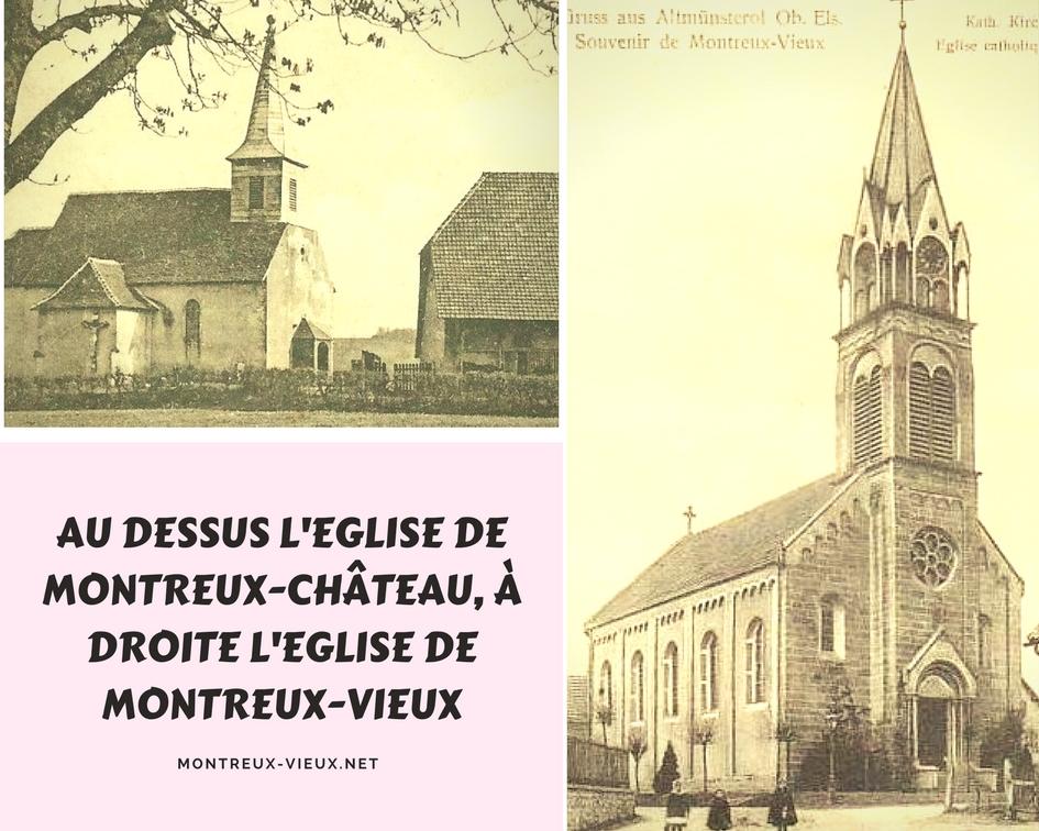 On pouvait lire : Les églises de Montreux-Château et Montreux-Vieux