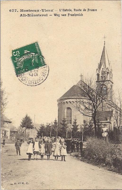 La rue de Belfort dénommée Route de France