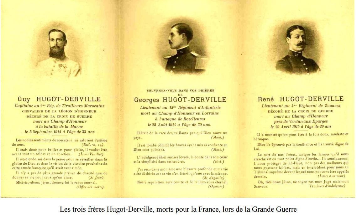 Le Lieutenant HUGOT-DERVILLE (René-Marie-Louis)