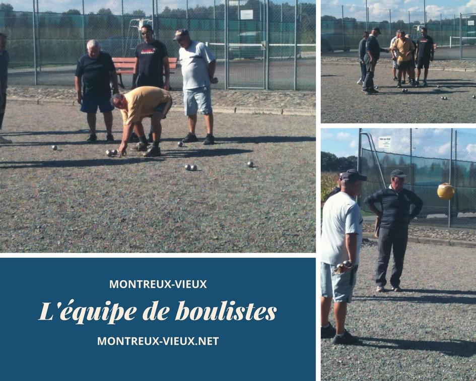 Les boulistes de Montreux-Vieux
