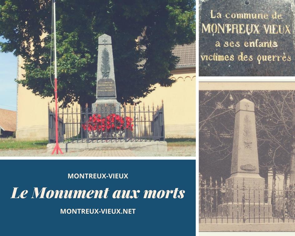 Le monument aux morts de Montreux-Vieux.