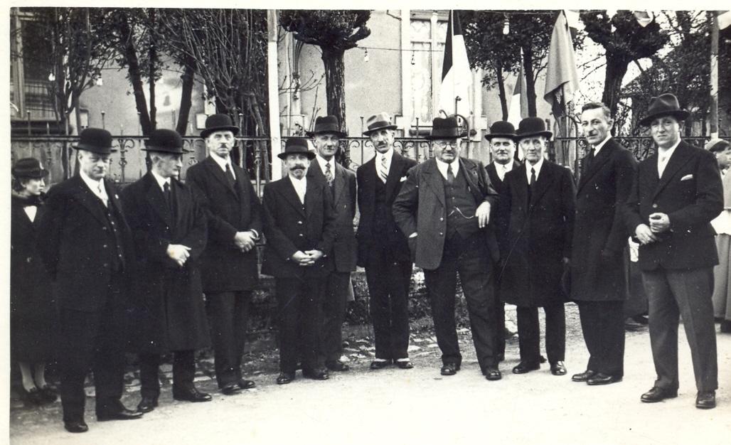 Quelques conseillers municipaux et membres du conseil de fabrique vers 1935